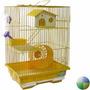 Hamstera 2 P.hamster Completa Bebedero Comedero Rueda Casa