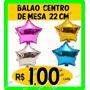 Balão Metalizado Estrela Ou Redondo 22cm