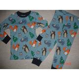 Pijama Bebe Niño Varon 1 A 2 Años Marca H & M 12 M 2 Pzs
