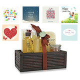 Pinkleaf Green Tea Argan Oil Bamboo Spa Bath Gift Set, Spa B