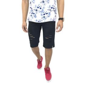 #bermuda-shorts-masculina-rasgada-jeans-destroy-moda-2018
