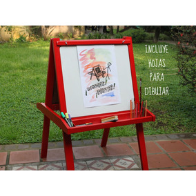 Pizarra Pizarron Doble Infantil Magnetico + Sujetapapeles