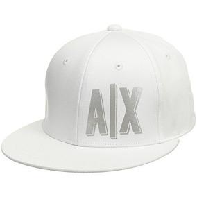 Gorra Armani Exchange 100% Algodón Con Logo Color Blanco c3ac9395bdd