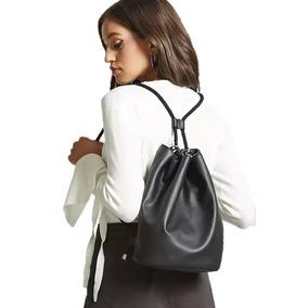 Mochila Dama Backpack Tipo Saco De Polipiel Forever 21
