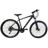 Bicicleta Aro29 Freio A Disco 27v Pr/cinza Elleven Bullet