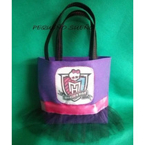 Souvenirs Bolsita Tela Monster High Tela Cumpleaños