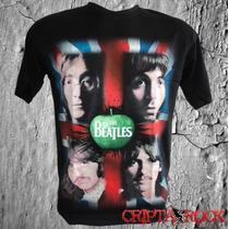 Camiseta Banda Beatles Bandeira Promoção Barato Black Friday