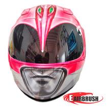Capacete Moto Pintura Personalizado Grafitado Power Rangers