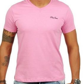 Camisa Paco Jeans, Cor Rosa,gola Redonda