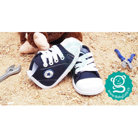 Tenis Para Bebé Azul - Zapatos No Tuerce Zapaticos Babycute