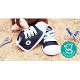 Tenis Para Bebé Azul - Zapatos No Tuerce Zapaticos Babycute