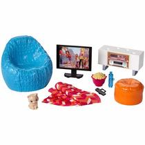 Casa Da Barbie Móveis Basicos Sala De Tv - Mattel