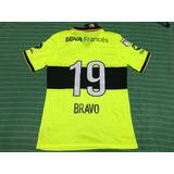 Camiseta De Boca 2013 2014 #19 Bravo Fluo Parche Avellaneda