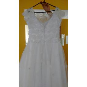Vestido Branco Para Noivas E Debutantes Tam 44/46