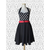 Vestido Pin Up Lunares Vintage Retro