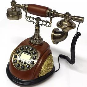 Aparelho Telefone De Mesa Retrô Decorativo Vintage-h 5767