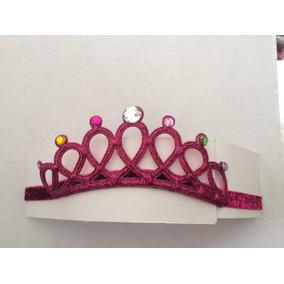 diadema corona coronita de princesa color fucsia