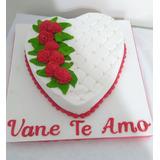 Tortas Decoradas Corazon, Dia De Los Enamorados,san Valentin