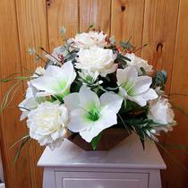Arranjo De Flores Artificiais - Rosas E Lírios Tam:42x45