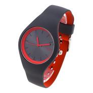 Reloj Knock Out Mujer 8470 Silicona Wr Bicolor Colores