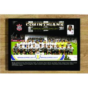 Quadro Poster Corinthians Campeão Brasileiro 2017 25x35