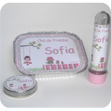 30 Kits Lembrancinha Latinha+tubete+marmitinha Personalizado