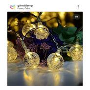 * Guirnalda 3 Mts Burbujas Cristal A Pilas