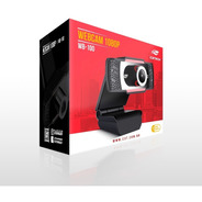 Webcam C3tech - Câmera Full Hd 1080p Wb-100bk Preto
