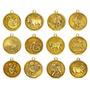Set 12 Monedas Chinas Horóscopo Doradas Suerte Feng Zodiaco