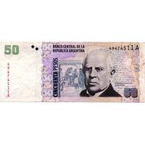Billete De 50 Pesos - Serie A - Bottero 3601