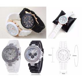 Relógio De Pulso Feminino Geneva Pulseiras De Silicone Luxo