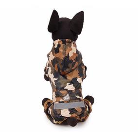 Capa De Chuva Com Capuz Para Cães Rafs Camuflada Tamanho Xl