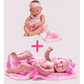 Baby Ninos Recem Nascida + Boneca Bebe Anjo Tipo Reborn