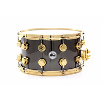 Dw Tarola 8x14 Black Nickel Over Brass Gold
