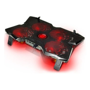 Base Para Notebook Gamer Con 4 Cooler Noga Ng-cool30 Led Usb