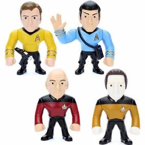 4 Bonecos Star Trek Metals Die Cast Spock Kirk Picard Data