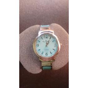 Relógio Feminino Bracelete Azul July - Importado Argentina