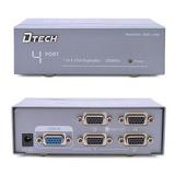 Potencia 4 Puerto Vga Splitter Amplificador Caja 1 Pc Video