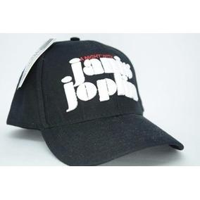 Boné Aba Curva Rock Janis Joplin Preto Bordado