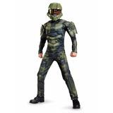 Disfraz Halo Master Chief Jefe Maestro 4-12 Musculoso