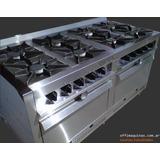 Cocina 8 Hornallas Horno Industrial 150 Cm Mga Fábrica