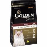 Golden Gato Castrado Carne 10 Kg + Cx. Transporte Panther 2