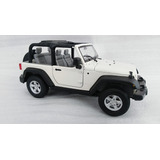 Jeep Rubicon Blanco Escala 1:24, De 18cms De Largo Metalico