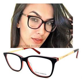 Armação P/ Oculos Grau Feminino Dg3126 Acetato Original