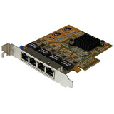 Tarjeta De Red Pci Express Ethernet Gigabit Con 4 Puertos Rj