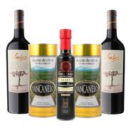 Aceite De Oliva Yancanelo  1l X2 + 1 Aceto + 2 Vinos