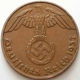 Alemania Nazi Espectacular 1 Reichspfenig 1937 Terc. Reich