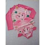 Conjunto Infantil Barrato Proteção Uv 50 Flamingo