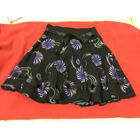Falda Formal Negra Con Diseños De Destellos Plateados