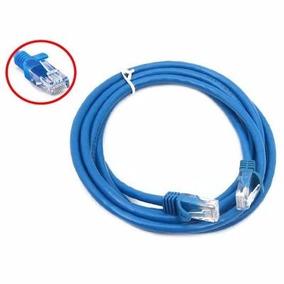 Patch Cord De 3,0 Mts Cat-5e Pct C/ 10 Unidades Azul
